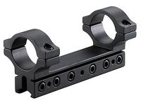 "BKL 1-Pc Mount, 4"" Long, 1"" Rings, 3/8"" or 11mm Dovetail, 6 Base Screws, .007 Drop Compensation, Matte Black"