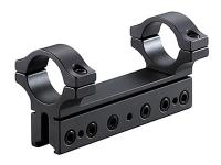 BKL 1-Pc Mount, 4 inch Long, 1 inch Rings, 3/8 inch or 11mm Dovetail, 6 Base Screws, High, Matte Black