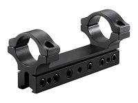 BKL 1-Pc Mount, 4 inch Long, 1 inch Rings, 3/8 inch or 11mm Dovetail, 6 Base Screws, Matte Black