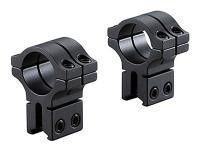 BKL 1 inch Rings, 3/8 inch or 11mm Dovetail, Double Strap, High, Matte Black