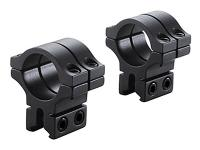 "BKL 1"" Rings, 3/8"" or 11mm Dovetail, Double Strap, Matte Black"