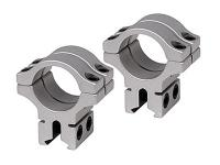 "BKL 1"" Rings, 3/8"" or 11mm Dovetail, Double Strap, Silver"