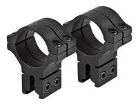 "BKL 30mm Rings, 3/8"" or 11mm Dovetail, Double Strap, Matte Black"