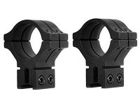 BKL 1 inch Rings, 14mm Dovetail, Double Strap, Matte Black