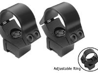 B-Square 10101 1 inch Interlock Adjustable Rings, 11mm Dovetail