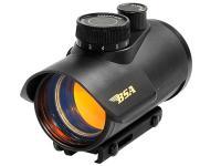 BSA 42mm Red Dot Sight, 5 MOA, 11-Position Rheostat, 3/8 inch & Weaver Mounts