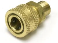 Air Venturi Female Quick-Disconnect Adapter, Male 1/8 inch BSPP Threads