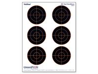 Champion VisiShot Paper Targets, 3 inch Bulls, 8.5x11  - 10pk