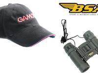 Free Gamo hat + binoculars
