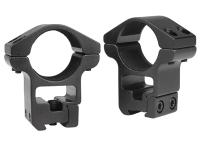 Gamo 1 inch Rings, High, 3/8 inch & 11mm Dovetail, See-Thru