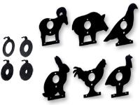 Gamo Target Faces, Fits Squirrel Field Target Mechanism, 6/pk + 4 Kill-Zone Reducers