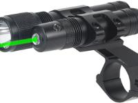 Gamo Airguns, Ammo, and Access Gamo Green Laser and Flashlight, Fits 30mm or 1 inch Scope Tube, Momentary Pressure Switch