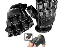 Doro Sport Hardback Paintball Gloves, Medium, Exposed Fingertips