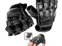 Doro Sport Hardback Paintball Gloves, Medium, Exposed Fingertips