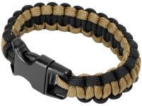 JAG Precision Mil-Spec Cobra Paracord Bracelet, Coyote/Black Color, 7 inch