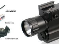 UTG Tactical Pistol Flashlight, Xenon Bulb, Weaver Mount