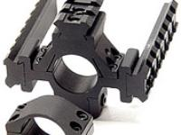 Leapers Accushot 1 inch Rings w/Deluxe Tactical Tri-Rail, 3/8 inch Dovetail