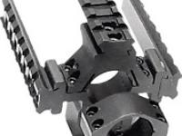 Leapers Accushot 1 inch Rings w/Deluxe Tactical Tri-Rail, Medium, 3/8 inch Dovetail, See-Thru