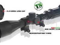 Leapers Golden Image 3-9x40 Rifle Scope, Illuminated Mil-Dot Reticle, 1/4 MOA, 25mm Tube, Weaver Rings, Rubberized Exterior