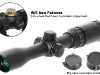 Leapers 5th Gen 2-7x32 Rifle Scope, Illuminated Mil-Dot Reticle, 1/4 MOA, 1 inch Tube