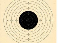 Beeman 33', 10 Meter, B-40 AIR PISTOL Target Single Bull Center