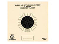 National Target Company National Target NRA 10-Meter Air Rifle Bullseye Target, 1 Bull/Page, 100ct