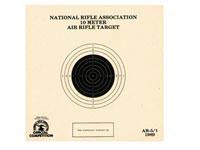 National Target Company National Target NRA 10-Meter Air Rifle Bullseye Target, 1 Bull/Page, 100ct