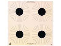 National Target Company National Target NRA 10-Meter Air Pistol Bullseye Target, 4 Bulls/Page, 100ct