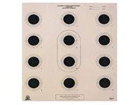 National Target Company National Target Air Rifle Target, 12 Bullseyes/Sheet, 100 ct