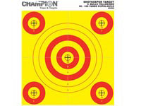 Champion 5-Bull Paper Target, Yellow/Orange, 8.5 inchx11 inch, 12/pk