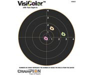 Champion VisiColor High-Visibility Paper Targets, 8 inch Bull, 10pk