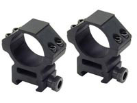 UTG Leapers 30mm Rings, Medium, Weaver Mount, See-Thru