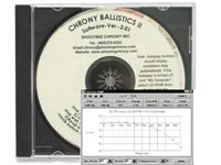 Shooting Chrony Chrony Ballistics II Software