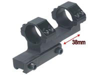 UTG Leapers Accushot 1-Pc Bi-directional Offset Mount w/1 inch Rings, High, 11mm Dovetail