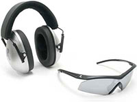 Remington True Jr & T-10 Combo Pack, Earmuffs & Safety Glasses, Kid Size