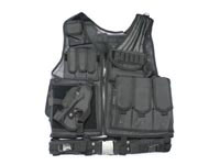 UTG Deluxe Tactical Vest with Quick Draw Holster, Pouch and Belt, Left-handed, Black
