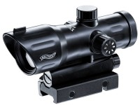 Walther PS 55 Dot Sight, Red Duplex Reticle, 7 Brightness Settings, 1/4 MOA, Integral Weaver Mount