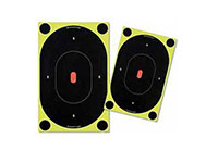 Birchwood Casey Shoot-N-C Silhouette Targets, 7 inch Oval, 12 Targets + 48 Pasters