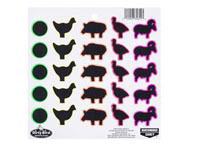 Birchwood Casey Dirty Bird Targets, Animal Pack, 25 Targets/Sheet, 20 Sheets