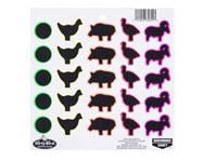 Birchwood Casey Dirty Bird Targets, Animal Pack, 25 Targets/Sheet, 20 Sheets