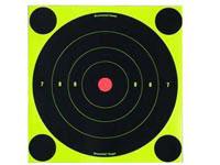 Birchwood Casey Shoot-N-C Targets, 8 inch Bullseye, 6 Targets + 24 Pasters