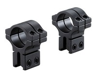 BKL 1 Rings, 3/8 or 11mm Dovetail, High, Double Strap, Matte Black