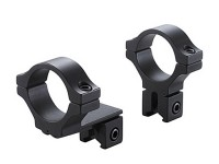 BKL 1 inch Rings, 3/8 inch or 11mm Dovetail, Offset, Matte Black
