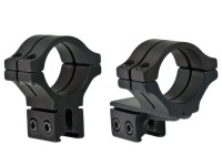 BKL 30mm Rings, 3/8 inch or 11mm Dovetail, Double Strap, Offset, Matte Black