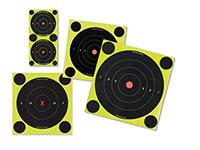 Birchwood Casey Shoot-N-C 6 inch Targets, 12 Bullseye Targets, 48 Pasters