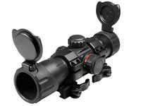 1x34mm ITA Combat Red/Green Dot Sight, 1/2 MOA, 30mm Tube, Quick-Detach Low Weaver/Picatinny Mount