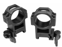 UTG 30mm Quick-Detach Rings, High, Weaver/Picatinny, See-Thru, Compact, Law-Enforcement Grade