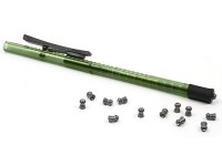Air Venturi Pellet Pen, Holds 15 .22-Cal Pellets, Green
