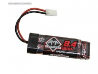 Cybergun AMP Tactical 8.4V 1600mAh NiMH Mini Type Battery, Mini Plug