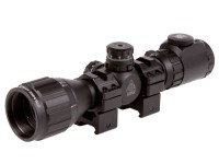 "UTG 3-9x32 AO Bug Buster Rifle Scope, EZ-TAP, Illuminated Mil-Dot Reticle, 1/4 MOA, 1"" Tube, Weaver/Picatinny Rings"